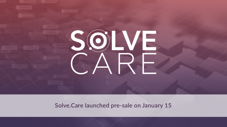 Solve.Care launched pre-sale on January 15 2018