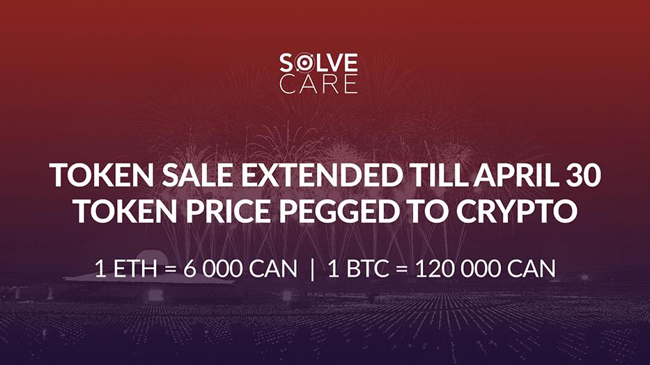 Solve.Care token sale extended till April 30 2018