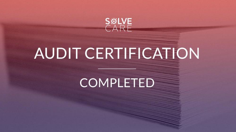 Solve.Care Audit certification completed