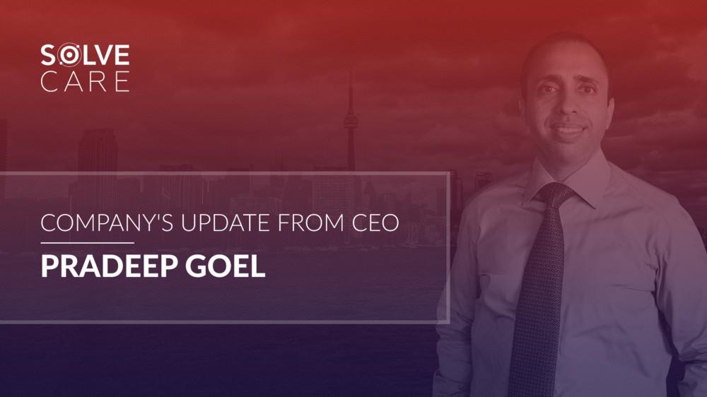Company Update Solve.Care CEO Pradeep Goel September 2018